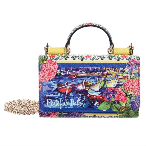 NWT Dolce   Gabbana Portofino Phone Bag dd8b0fcb4d027